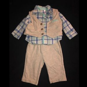 Baby Boy's Vest And Dress Panta outfit.
